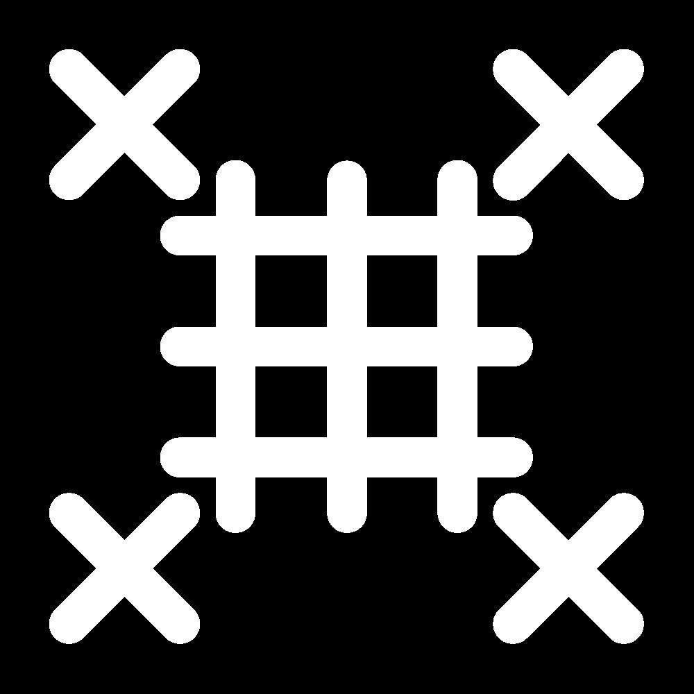 Barred square stitch icon