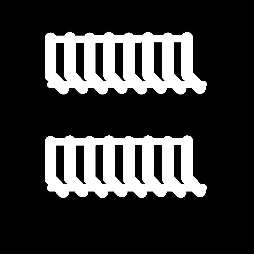 Buttonhole bars (cutwork) icon