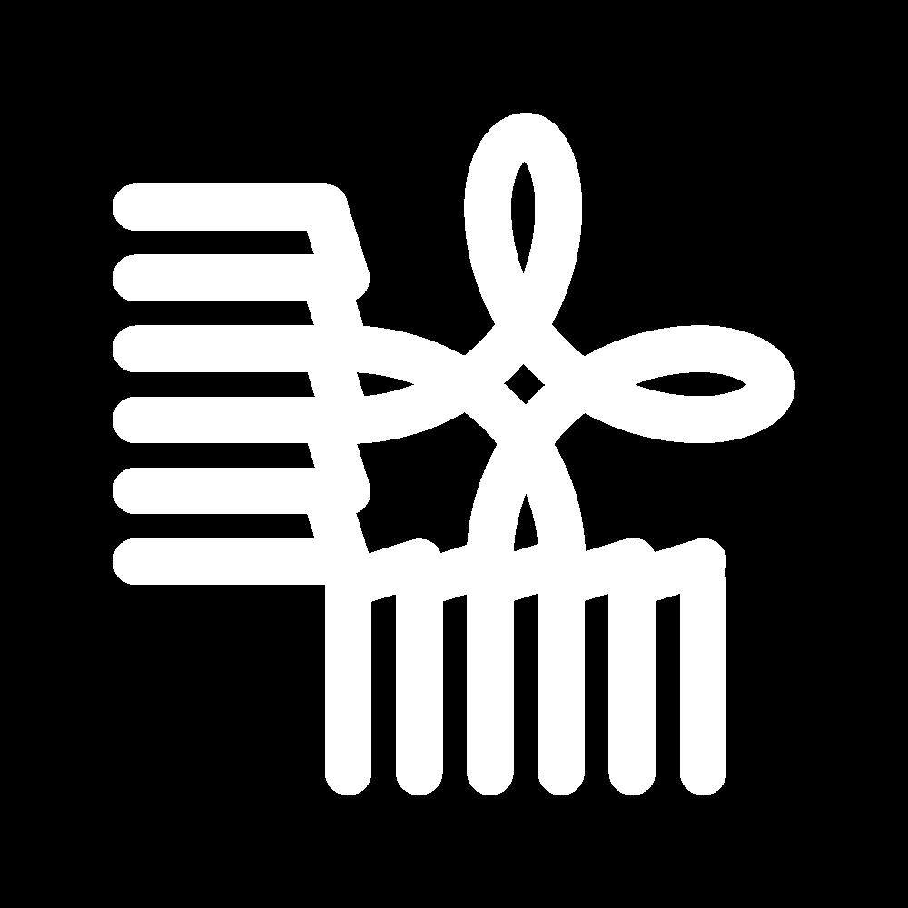 Buttonhole corner (drawn thread) icon