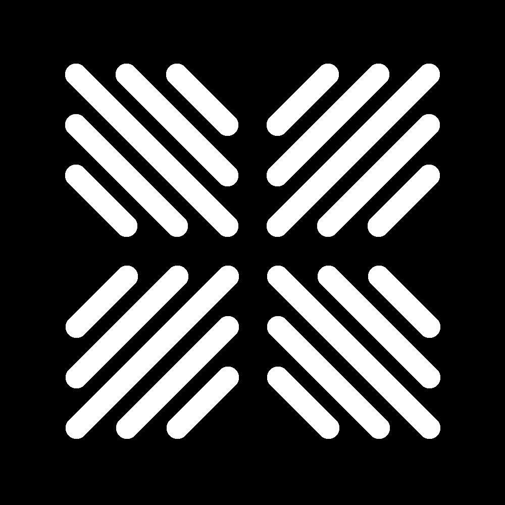 Reversed cushion stitch icon