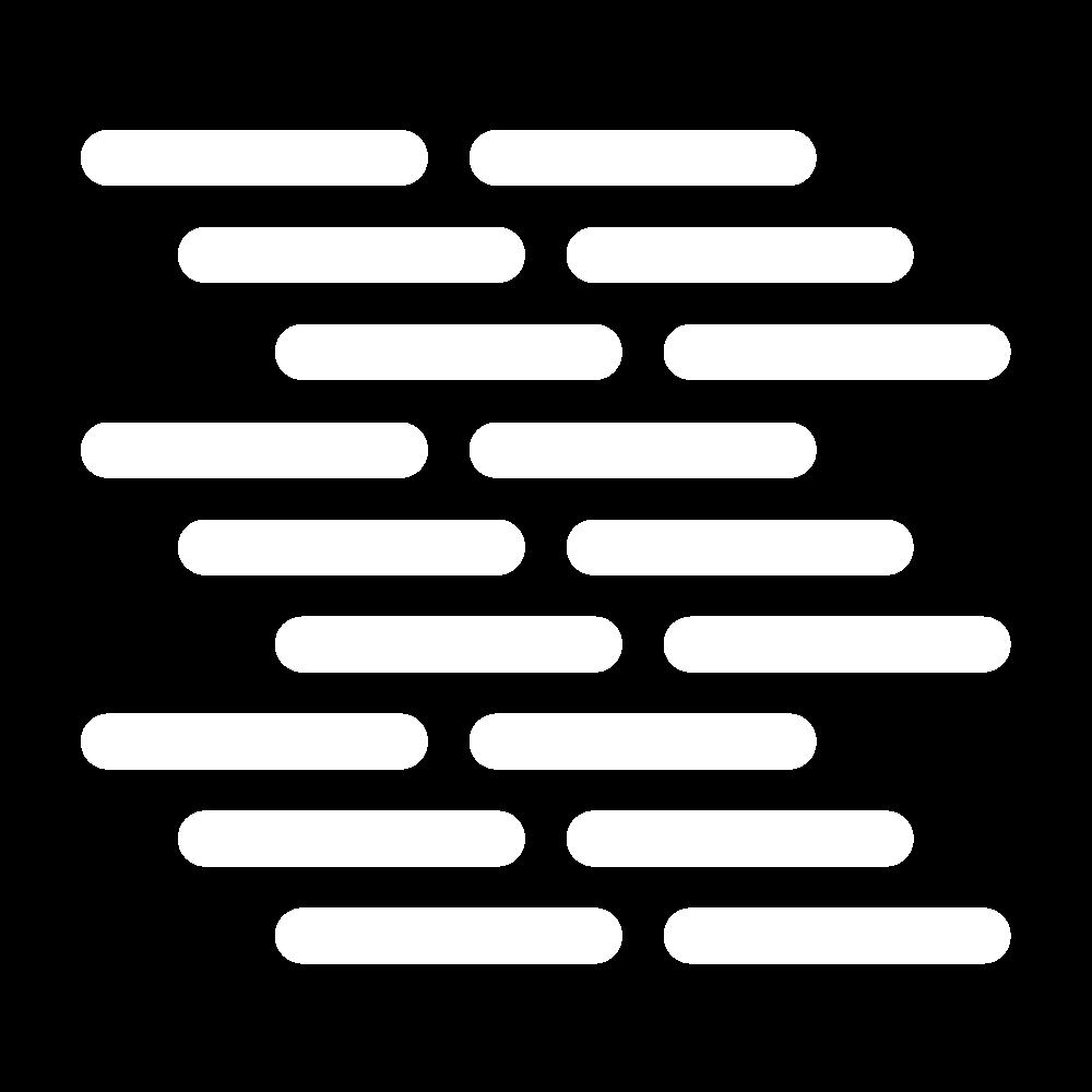 Closed diagonal darning (pattern) icon