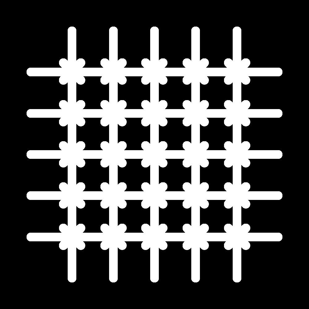 Cross bar filling trellis icon