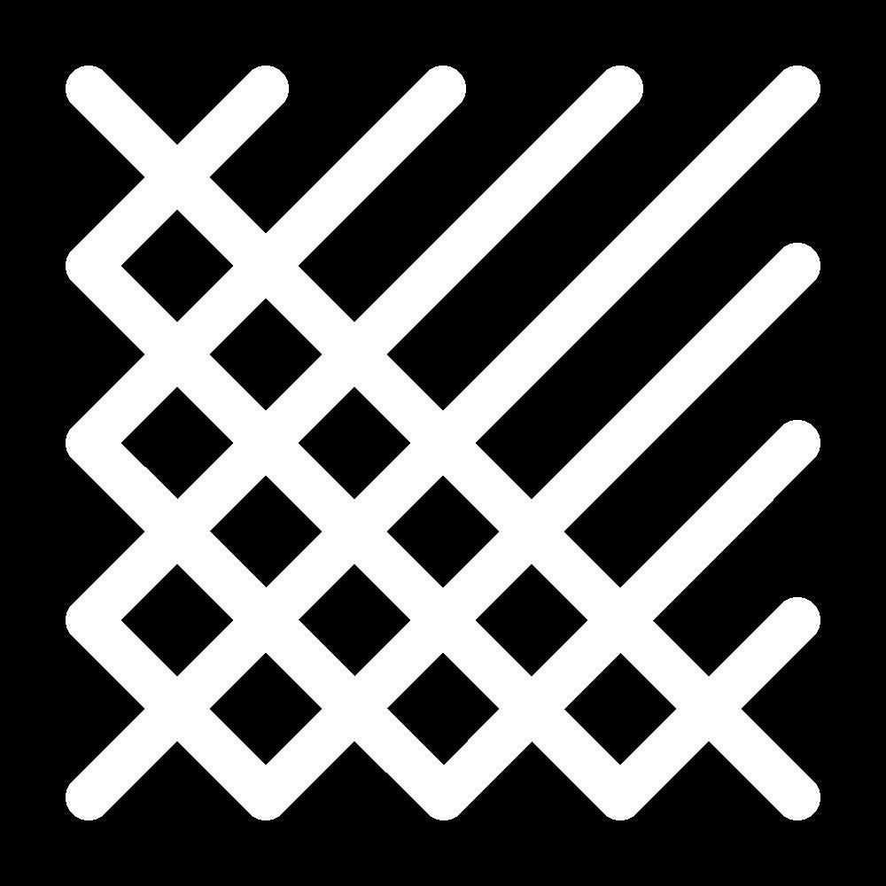 Crossed cushion stitch icon