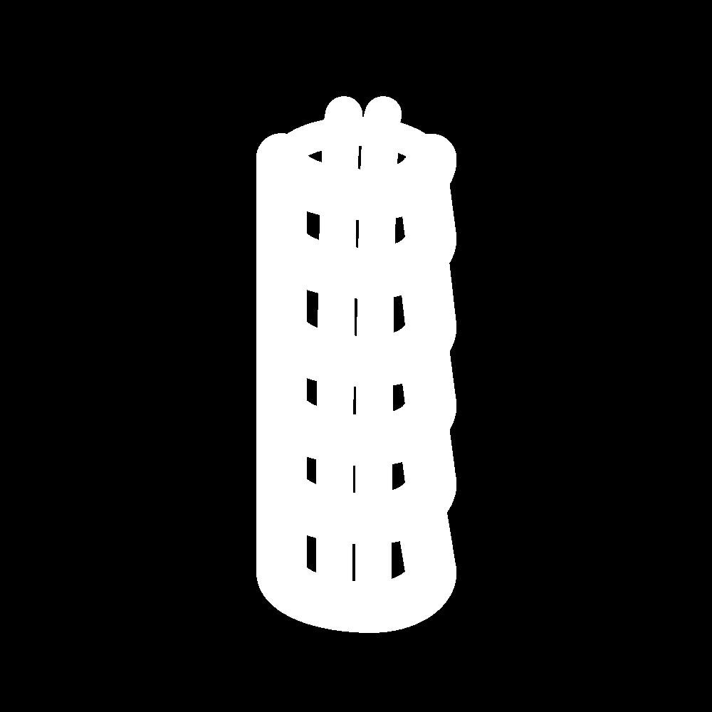 Detached buttonhole bars icon