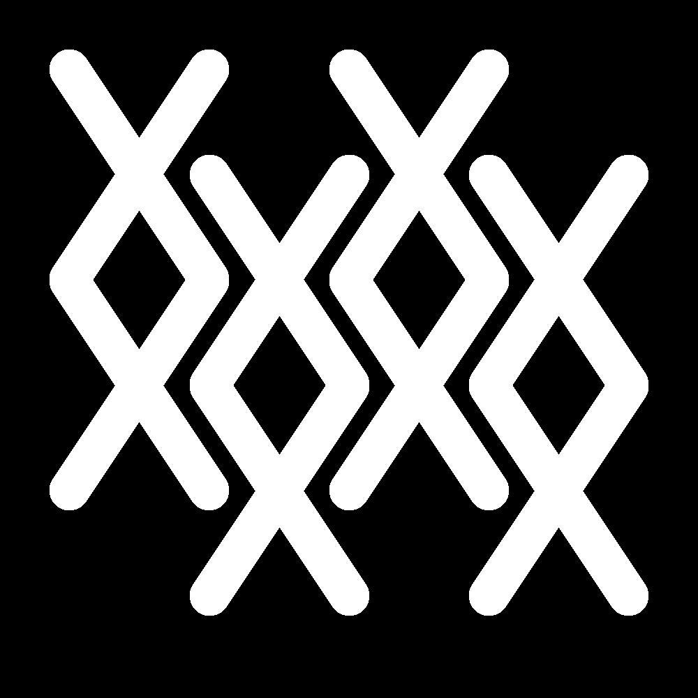 Flying cross stitch icon