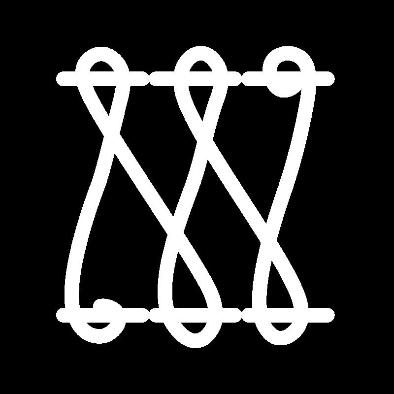 Herringbone ladder filling stitch icon