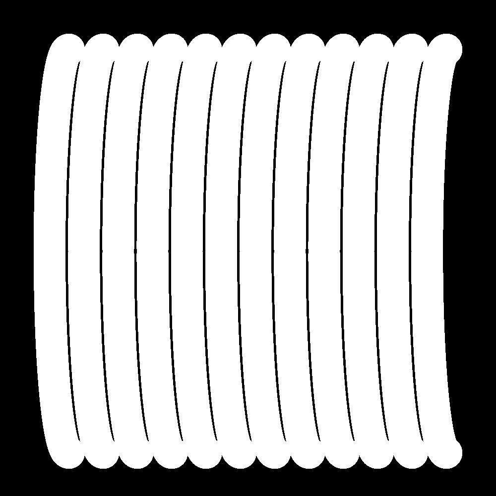 Padded satin stitch (laid work padding) icon