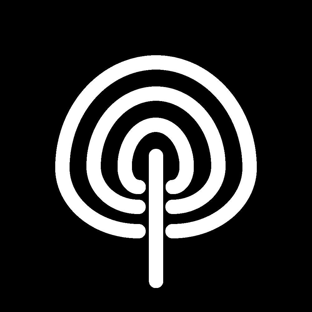 Raised leaf stitch icon