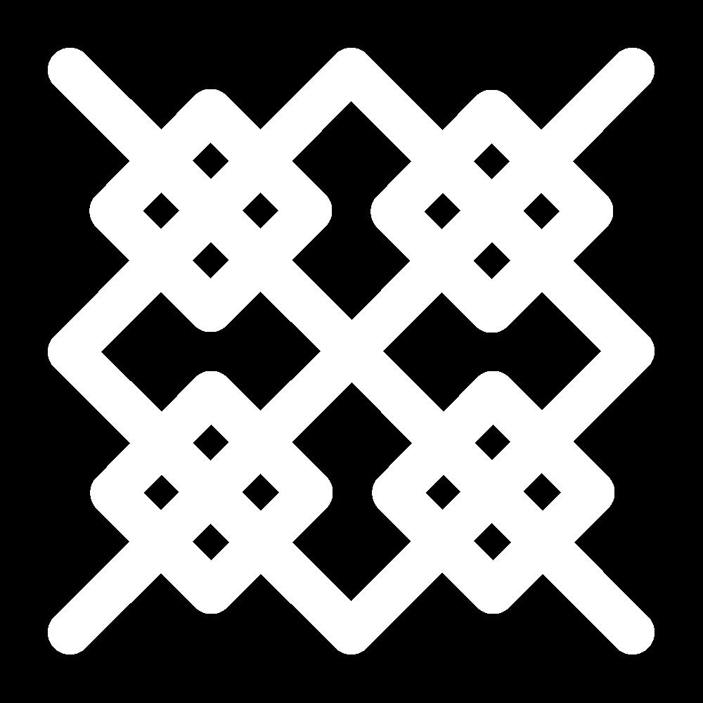 Square boss stitch icon
