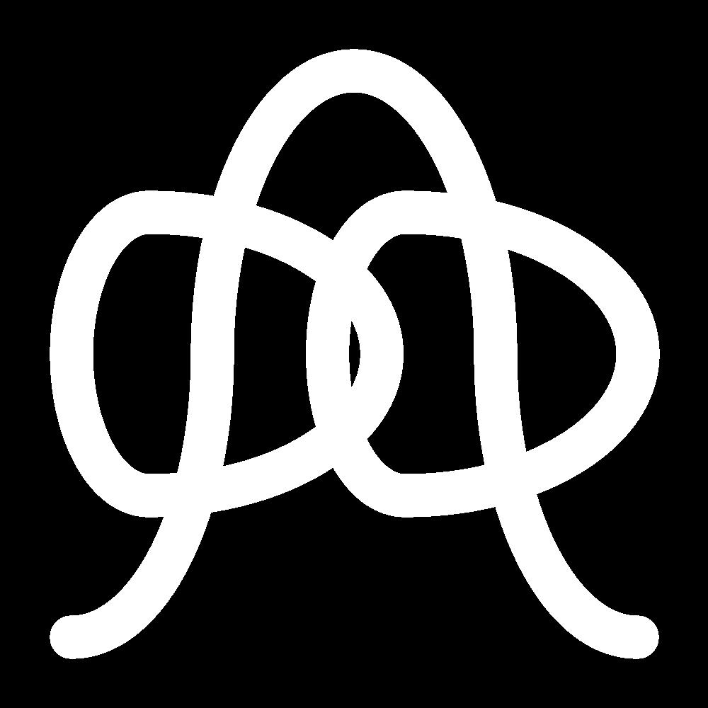 Threaded chain stitch icon