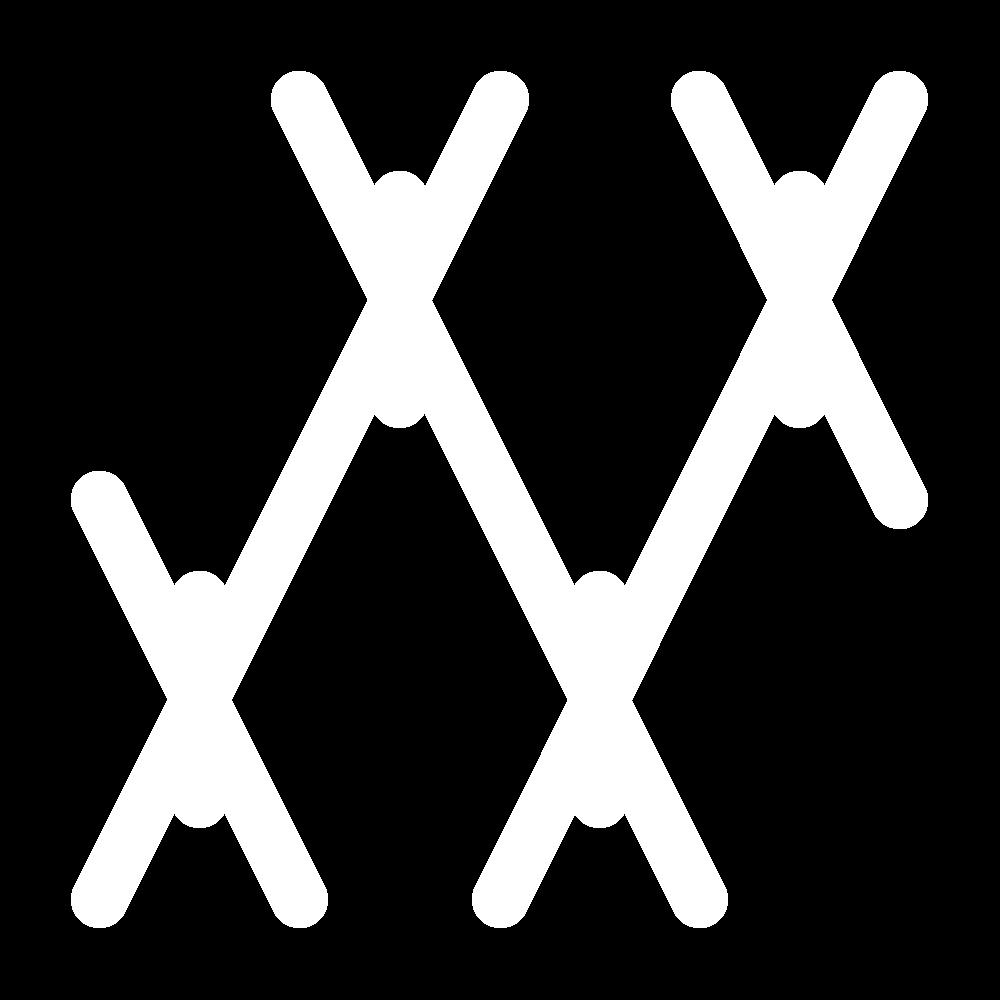 Tied herringbone stitch icon