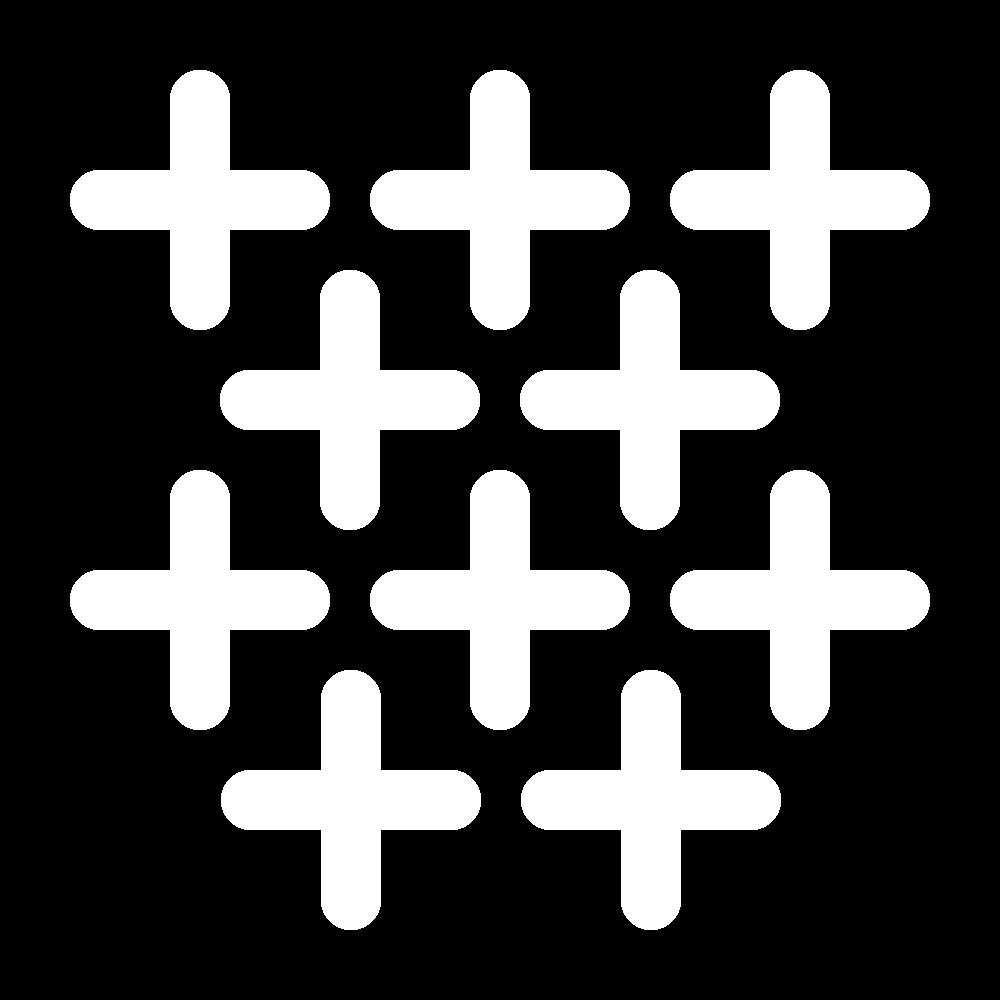Upright cross stitch icon