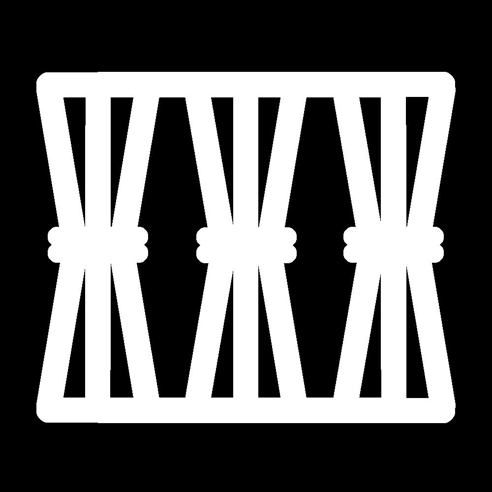 Wrapped bars (drawn thread) icon