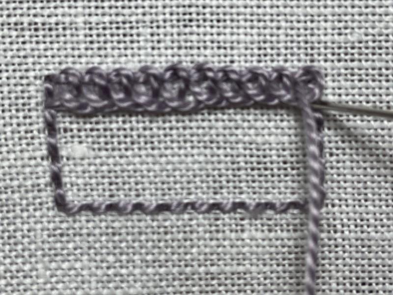 Ceylon stitch method stage 3 photograph