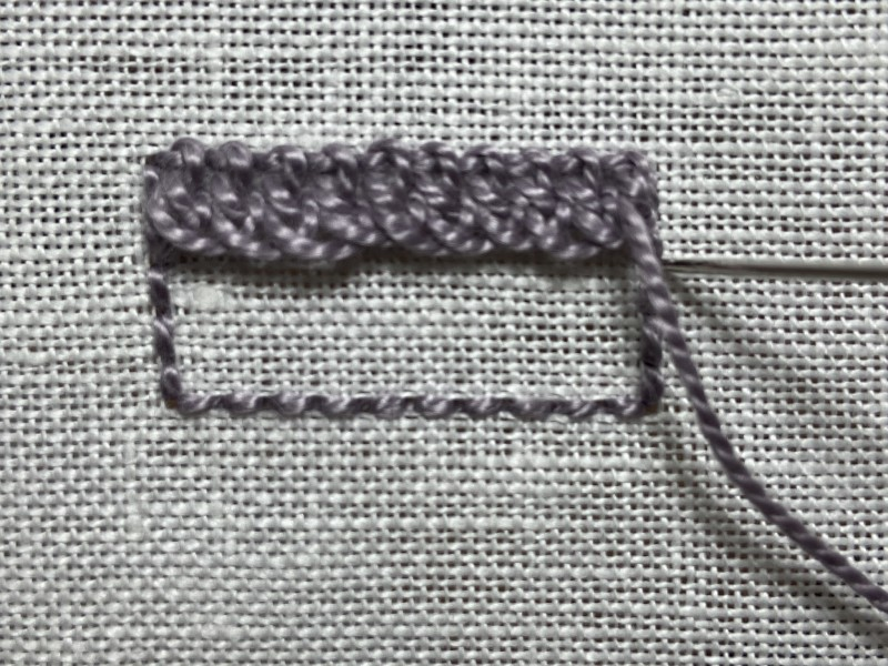Ceylon stitch method stage 7 photograph