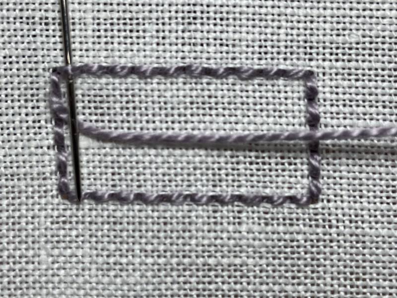 Ceylon stitch method stage 1 photograph