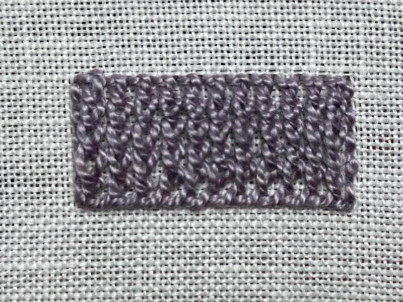 Ceylon stitch method stage 8 photograph