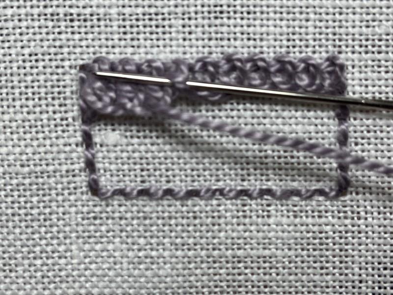 Ceylon stitch method stage 6 photograph