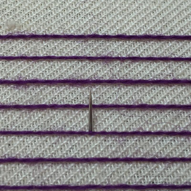 Burden stitch method stage 3 photograph