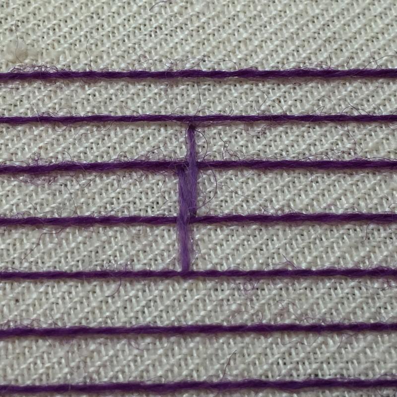 Burden stitch method stage 5 photograph