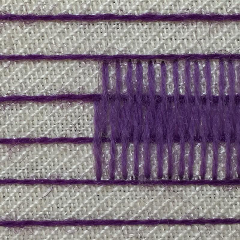 Burden stitch method stage 6 photograph
