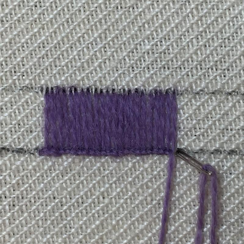 Buttonhole stitch method stage 7 photograph