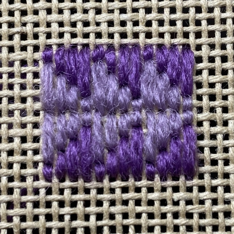 Wild goose chase stitch  method stage 5 photograph