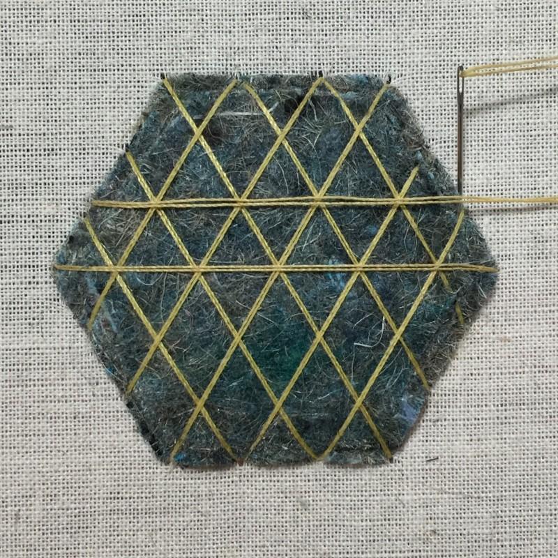 Carpet felt padding method stage 2 photograph