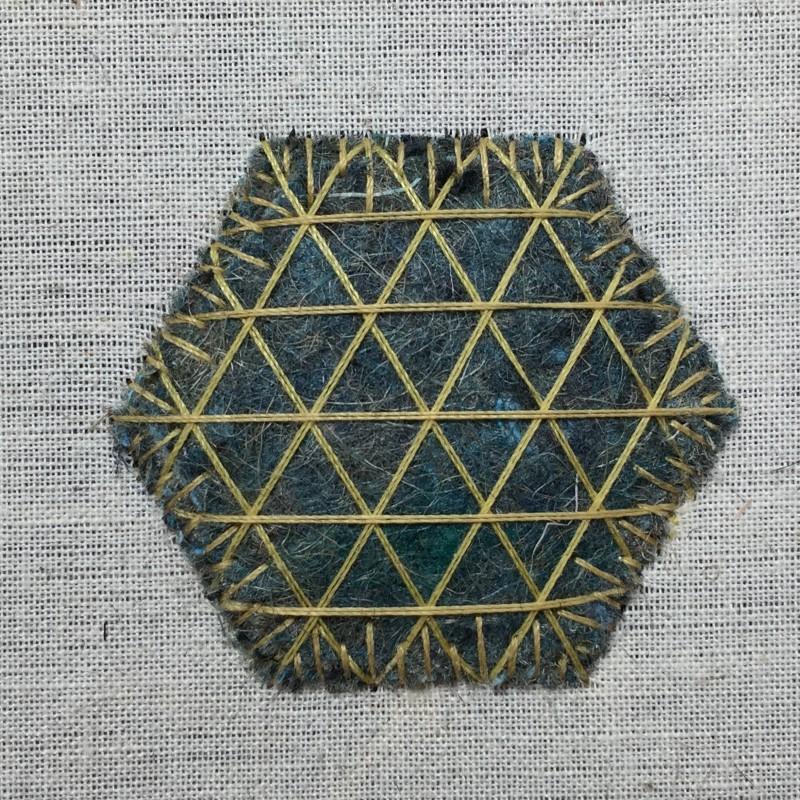 Carpet felt padding method stage 3 photograph