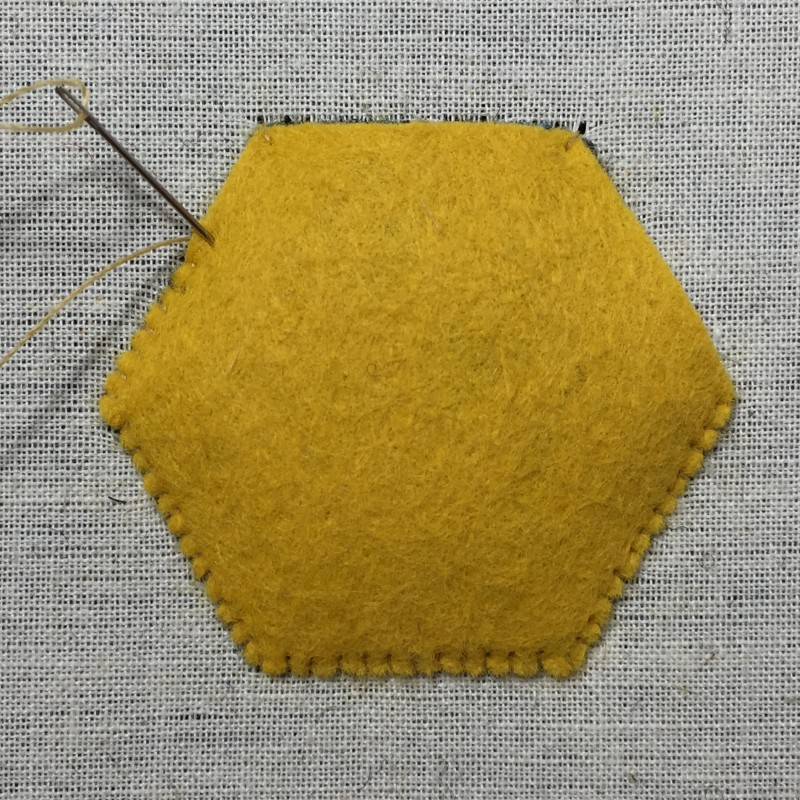 Carpet felt padding method stage 5 photograph