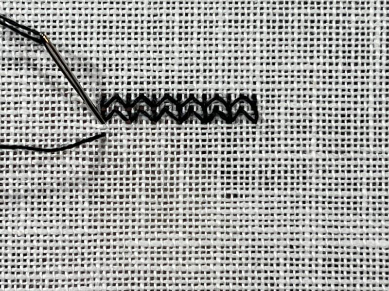 Chevron (pattern) method stage 1 photograph