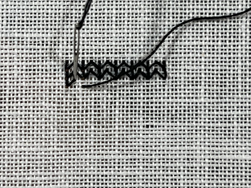 Chevron (pattern) method stage 3 photograph