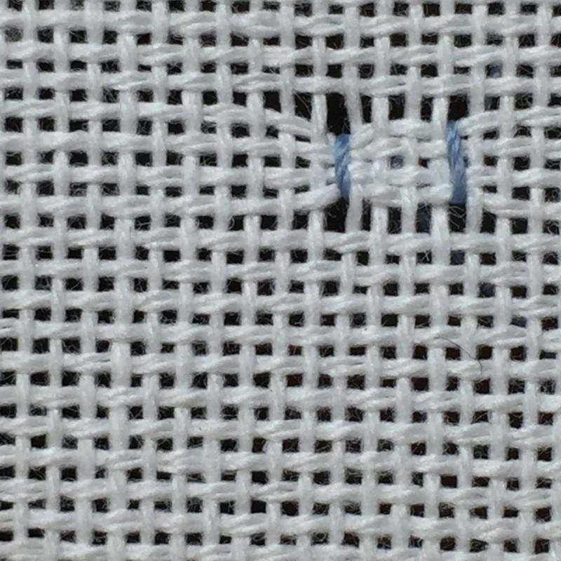Cobbler filling stitch method stage 2 photograph