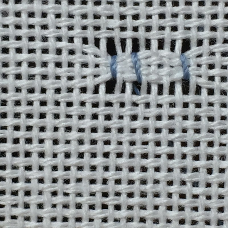 Cobbler filling stitch method stage 3 photograph