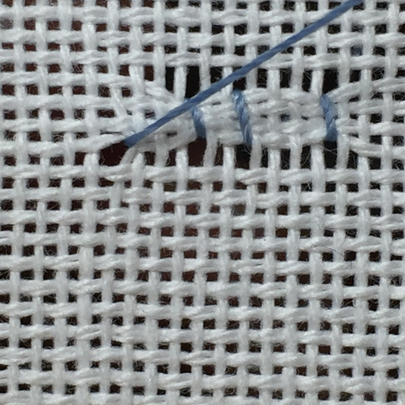 Cobbler filling stitch method stage 4 photograph