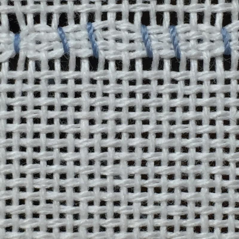 Cobbler filling stitch method stage 5 photograph