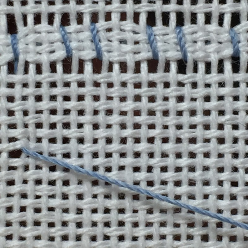 Cobbler filling stitch method stage 6 photograph
