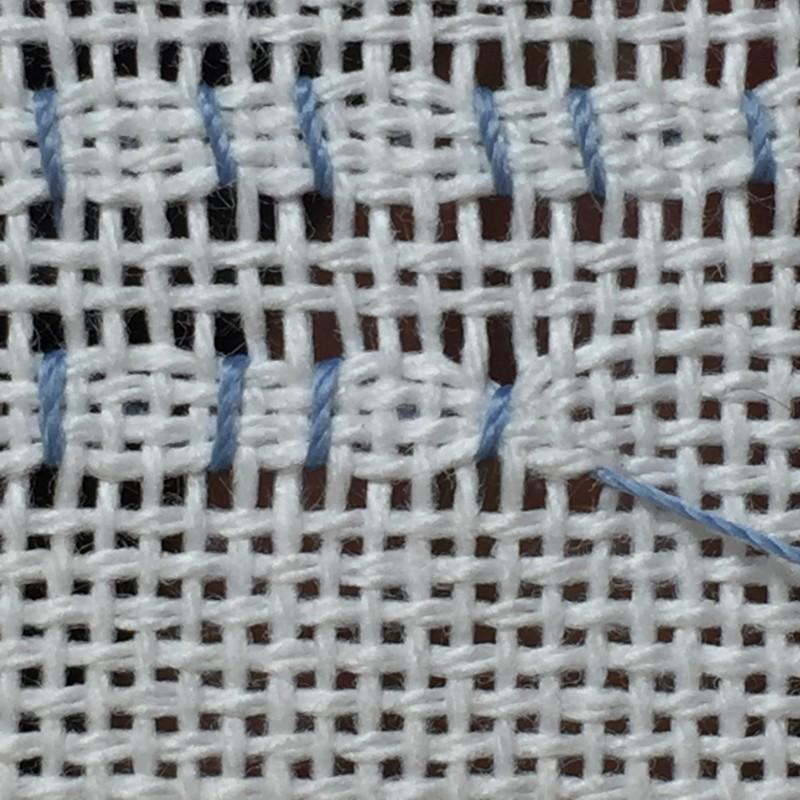 Cobbler filling stitch method stage 7 photograph