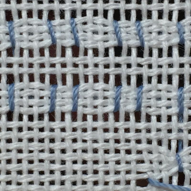 Cobbler filling stitch method stage 8 photograph