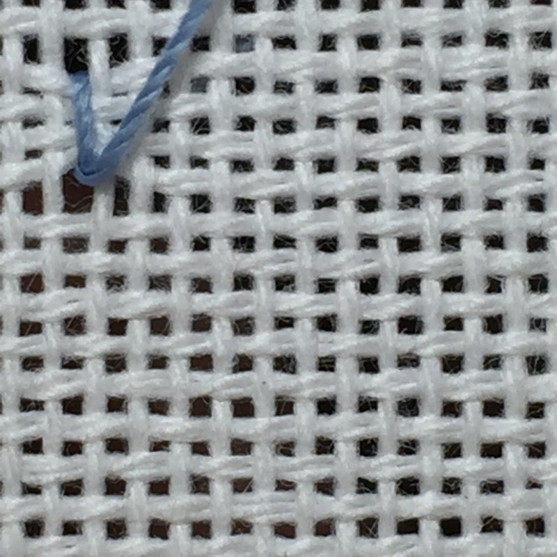 Coil filling stitch method stage 2 photograph