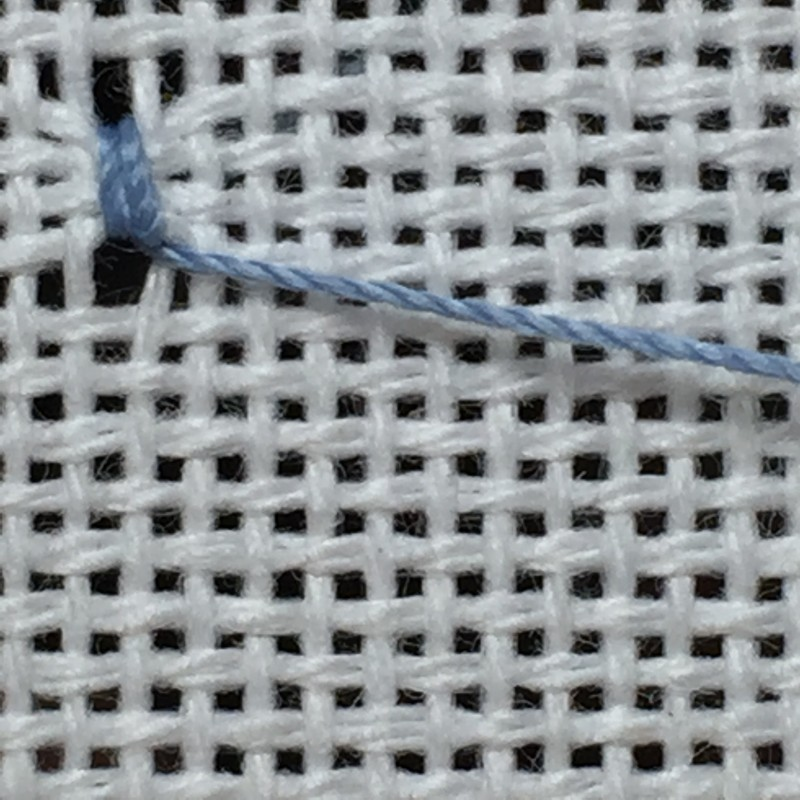 Coil filling stitch method stage 3 photograph