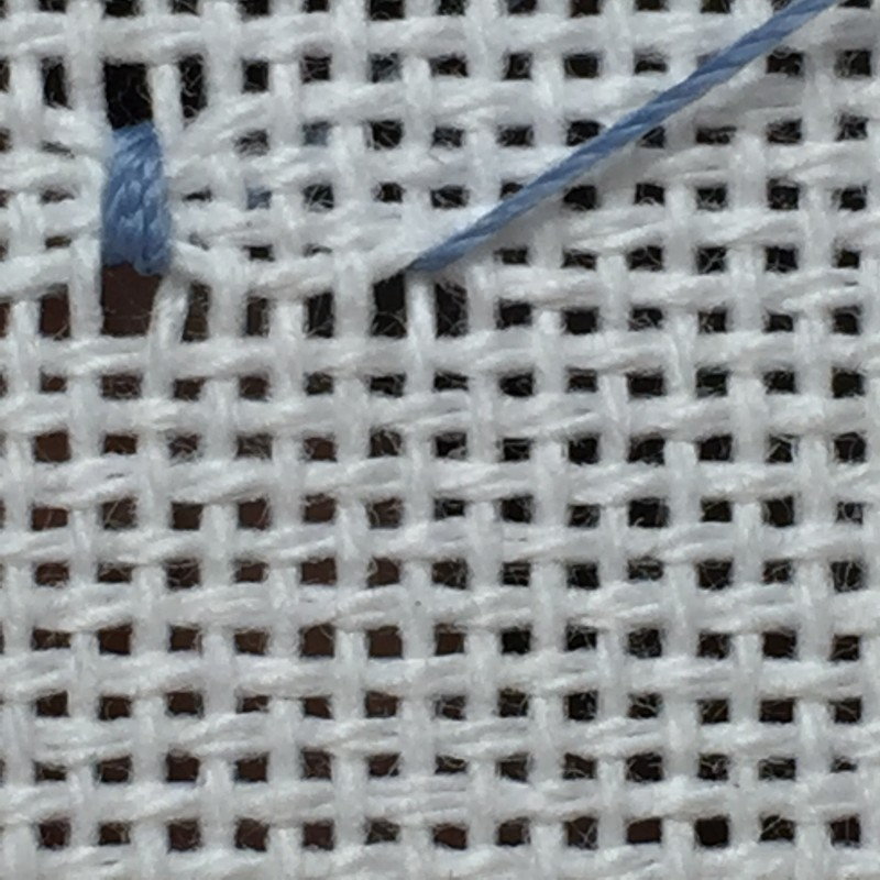 Coil filling stitch method stage 4 photograph