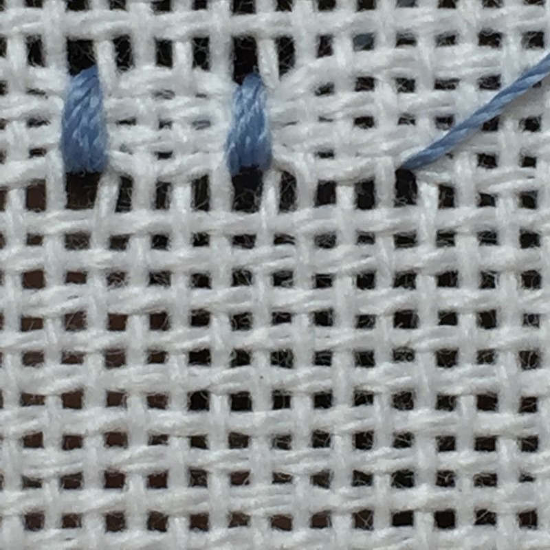 Coil filling stitch method stage 5 photograph