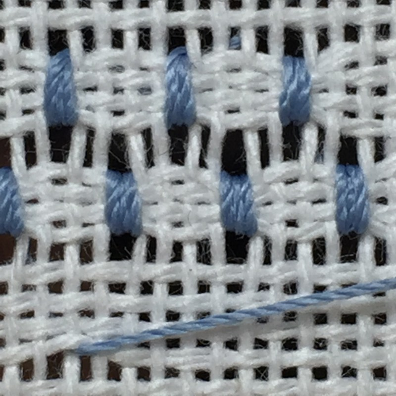 Coil filling stitch method stage 7 photograph
