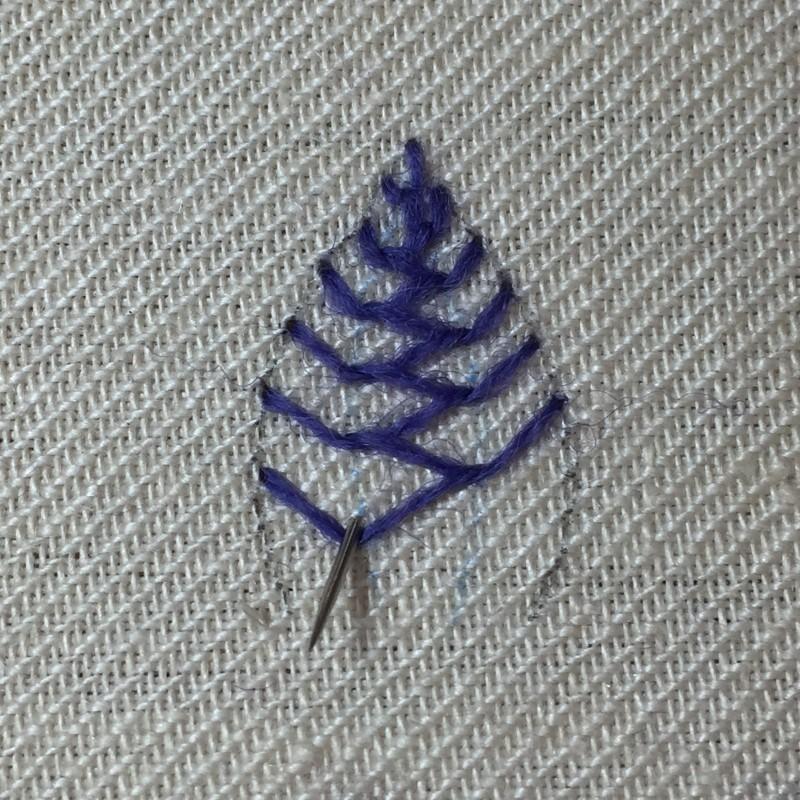 Cretan stitch method stage 8 photograph