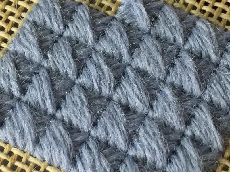 Crossed cushion stitch main image