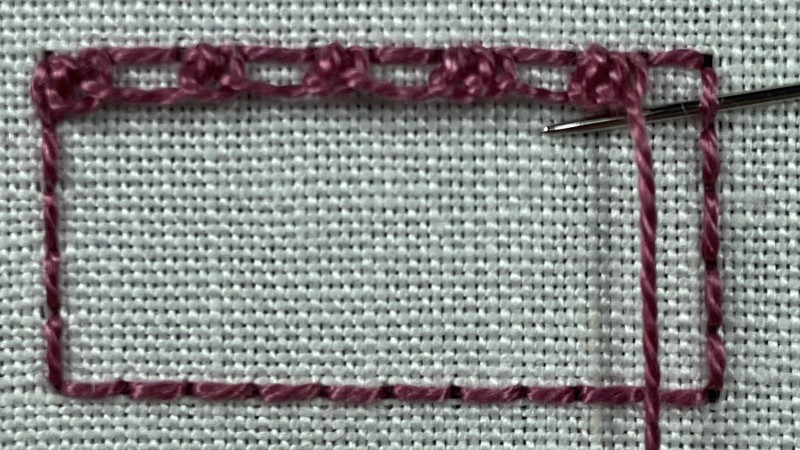 Double Brussels stitch method stage 2 photograph