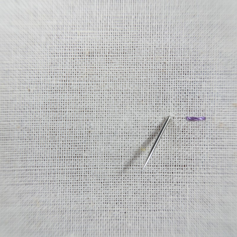 Double running stitch method stage 1 photograph