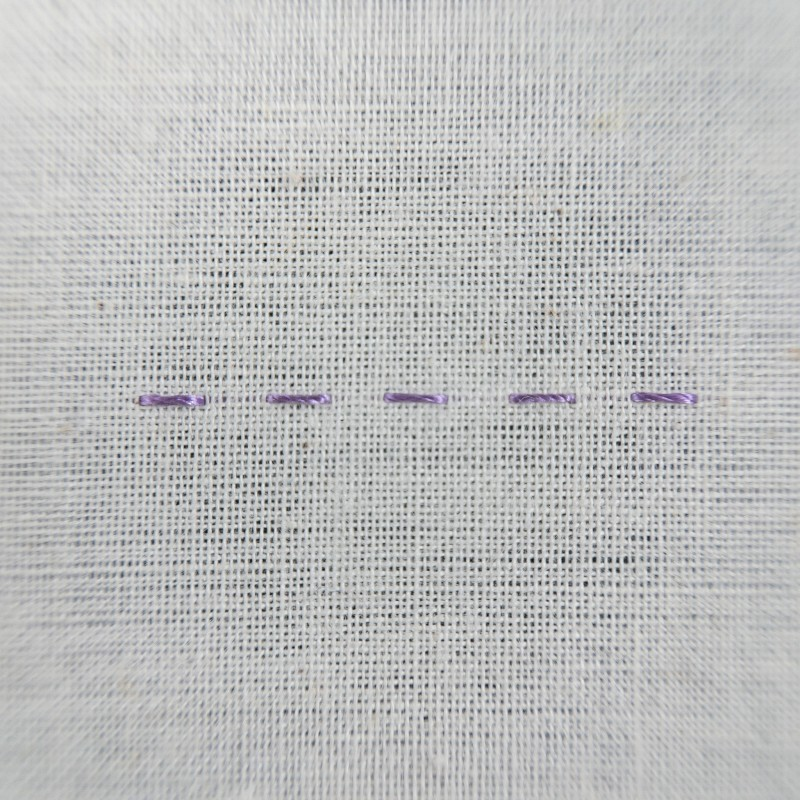Double running stitch method stage 3 photograph