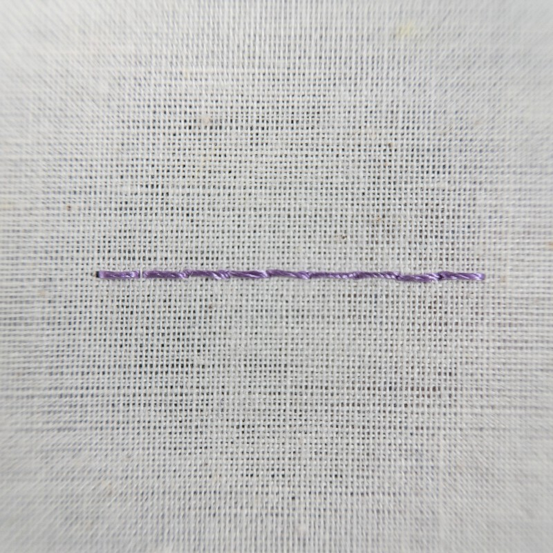 Double running stitch method stage 6 photograph
